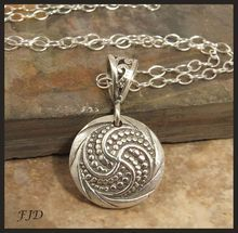 Fine Silver and Sterling Silver Necklace