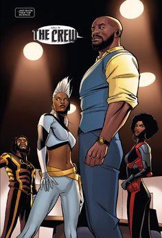 Luke Cage and Storm Marvel Comic Universe, Marvel Comics Art, Marvel Vs, Black Characters, Comic Book Characters, Comic Character, Comic Books, Comic Art, Black Panther Marvel