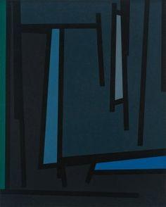 Karl Benjamin, Untitled (Tape Grid Series)