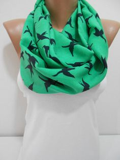 ON SALE Bird Print Scarf St Patricks Day Scarf by ScarfClub