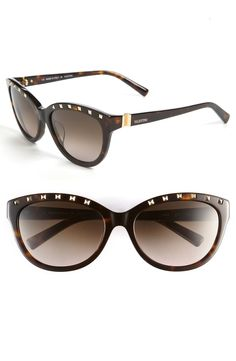Valentino Studded Sunglasses Cat's Eye These look cool