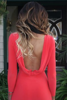 Ombré & Draped back