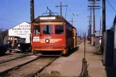 A Santa Monica Air Line car travels west through Culver City at Venice and Robertson. Photo by Alan Weeks, courtesy of the Metro Transportation Library and Archive. This also very much what the Red Car looked like as it passed the lumber yards the lumber yards that were at 14th St and Colorado in Santa Monica.