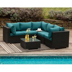Salon de jardin CALEDONIA en résine tressée: 2 fauteuils, un canapé ...