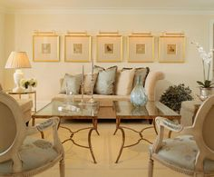 Contemporary interior decor with couple of hand-wrought iron coffee tables; contemporary living room ideas
