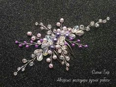 Bridal Comb, Bridal Headpieces, Prom Jewelry, Jewellery, Beaded Flowers, Girl Hairstyles, Hair Clips, Bobby Pins, Beading