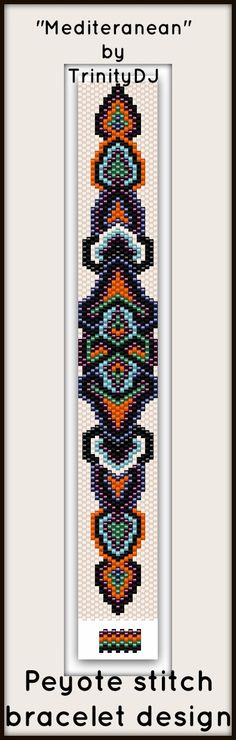 "New pattern - Peyote Stitch bracelet design ""Mediteranean"" Available as direct download and/or kit. Please follow this link for more info - http://cart.javallebeads.com/Mediteranean-Odd-Count-Peyote-Stitch-Pattern-p/td062.htm"