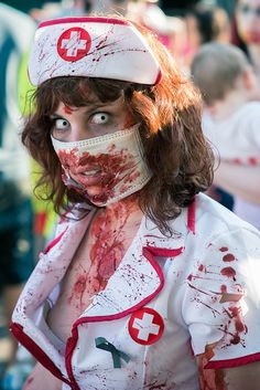 zombie nurse by sharkhats, via Flickr