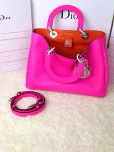 Diorissimo Bag in Nappa Leather Rose Pink