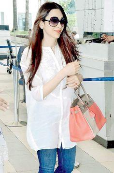 karisma kapoor airport | From left: Actress Evelyn Sharma , producers Bhushan and Divya Kumar ...