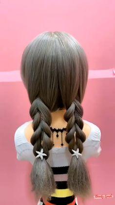 Kawaii Hairstyles, Little Girl Hairstyles, Hair Up Styles, Medium Hair Styles, Hairstyles For Medium Length Hair Easy, Mode Lolita, Toddler Hair, Hair Pins, Hairstyle Tutorials