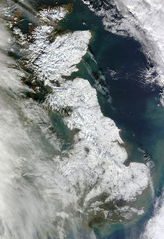 Satellite Eye on Earth: Snow in eastern England and Scotland