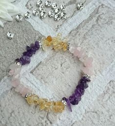 Fibromyalgia crystal healing bracelet by colourfulcrystals on Etsy