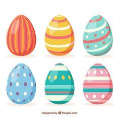 Descarga gratis vectores de Colección de huevos del día de pascua en estilo  plano cc5d465c3c