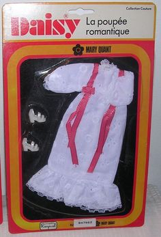 1970 Daisy Mary Quant RARE Raynal Outfit Summerdream White Var MOC New Carded | eBay