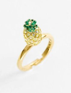 """juicy couture """"creatures of paradise - mini wish"""" pineapple ring"""