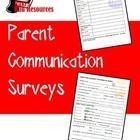 Newly released packet of parent communcation surveys: important information, ESL language development, technology skills and volunteer availability. All for just $3.00.