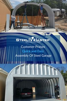 Customers come to SteelMaster Buildings when they need a steel building for many reasons. For Miguel Jimenez, it was to build a garage for his auto detailing company in San Antonio, Texas. Garage Wall Cabinets, Used Kitchen Cabinets, Work Shop Building, Building A Garage, Workshop Layout, Diy Workshop, Shop Buildings, Steel Buildings, Garage Shop
