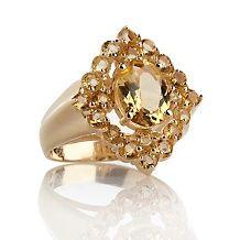 Technibond® Gemstone Cluster Oval Stone #Ring http://www.finditforweddings.com