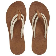 Women's Sakroots Bailen Flip Flop ($28) ❤ liked on Polyvore featuring shoes, sandals, flip flops, natural fabric, beach shoes, beach sandals, sakroots, beach flip flops and sakroot shoes