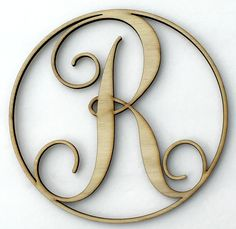 We love these wooden monograms! They're the perfect DIY project to add an elegance to your front door, a wedding gift, housewarming gift, baby's room, kitchen decor, or whatever else you can think of!