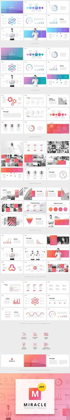 Miracle Modern PowerPoint Template #creativepowerpoint #powerpointdesign