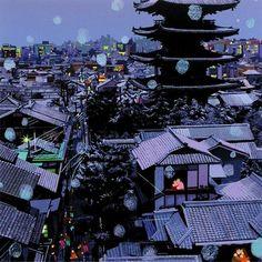 Hiro Yamagata - Japanese city at night