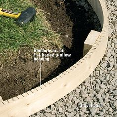 how to make curved concrete forms