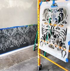 Fleur De' Lily Damask Allover Stencil | Royal Design Studio