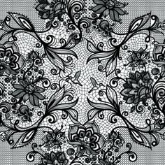 vector black lace creative background graphics