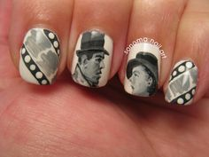 Here's Looking At You, Kid. Sonoma Nail Art: Monochrome Monday