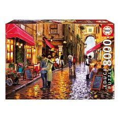 Puzzle 8000 pièces : Rue des cafés EDUCA - Puzzle adulte