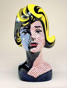"""Roy Lichtenstein (USA) - """"Head with Blue Shadow"""", 1965"""