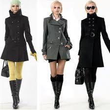 Winter fashion. Outfit on the right.