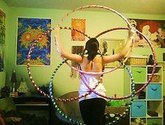 Sacred Geometry hoops .  #Hallucihoop