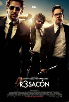 R3sacón (Resacón 3) - The Hangover Part III (2013)   La resaca del éxito... Bradley Cooper, Ed Helms y Zach Galifianakis vuelven a vivir otra aventura de las suyas....