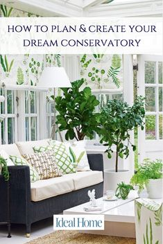 Looking to create a beautiful garden room or conservatory? We asked the decorating experts at Homes & Gardens magazine for their key ways to create a beautiful garden room or conservatory. Watch our video for their fab decorating ideas. Sunroom Decorating, Garden Room, Decor, Conservatory Decor, Green Home Decor, Home Decor, House Interior, Porch Decorating, Ideal Home