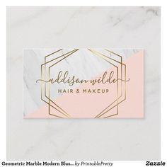 Shop Geometric Marble Modern Blush Pink Gold Trendy Business Card created by PrintablePretty. Gold Watercolor, Watercolor Logo, Blush And Gold, Blush Pink, Baking Logo Design, Black And Gold Marble, Cosmetic Logo, Branding Design, Branding Ideas