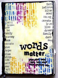 Make art journal page of favorite words art journals газета, Kunstjournal Inspiration, Art Journal Inspiration, Journal Ideas, Creative Journal, Journal Prompts, Creative Writing, Creative Art, The Words, Art With Words