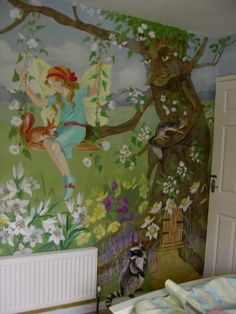Children's bedroom murals wall1_corner of the room