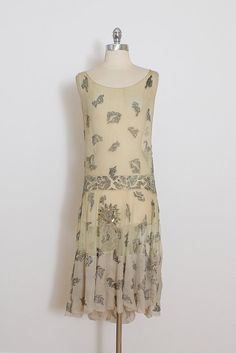 Vintage 1920s Dress vintage 20s flapper dress beaded silk
