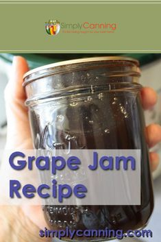 Grape jam recipe for making at home? You bet, and it's right here! - Canning, Grape Recipes, Jelly Recipes, Jam Recipes, Canning Recipes, Low Sugar Grape Jelly Recipe, Homemade Grape Jelly, Concord Grape Jelly, Growing Blueberries, Growing Grapes