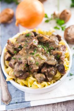 This Easy Beef Stroganoff Recipe is the perfect way to warm up on a cold night. With options for both the Instant Pot and Slow Cooker, this delicious comfort food has never been easier to make for dinner! Slow Cooker Pork Belly, Slow Cooker Beef, Slow Cooker Recipes, Crockpot Recipes, Cooking Recipes, Slow Cooking, Slower Cooker, Stroganoff Recipe, Beef Stroganoff