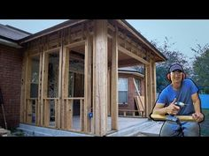 How I Framed Walls To Enclose Porch Patio, Vid #5 - YouTube