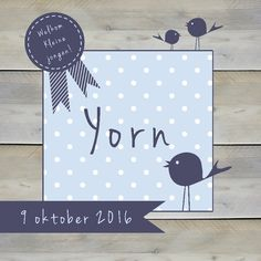 Geboortekaartje Yorn Birth Announcements, Decor, Decoration, Decorating, Deco
