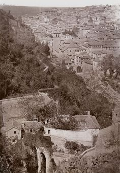 Vista de Granada, Andalucía. Foto: Carl Curman - 1878