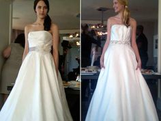 Gown Face-Off: Do you prefer an elegant ball gown or a pleated bodice with a circle skirt from Alyne?