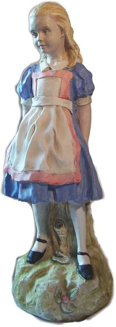 Hand painted alice in wonderland garden statues available at thewhiterabbit colorgardenstatues for Alice in wonderland garden statues