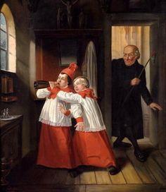 Hubert Salentin (1822 – 1910, German) - Thieves in the church