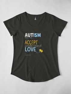 """Autism Awareness Accept Love understand"" Women's Premium T-Shirt by LisaLiza 
